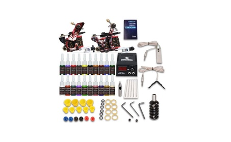 Complete Tattoo Kit Needle 2 Machine Gun Power Supply 20 Color Ink Tip aa6677e7-8189-464c-bf10-08f629651a6a