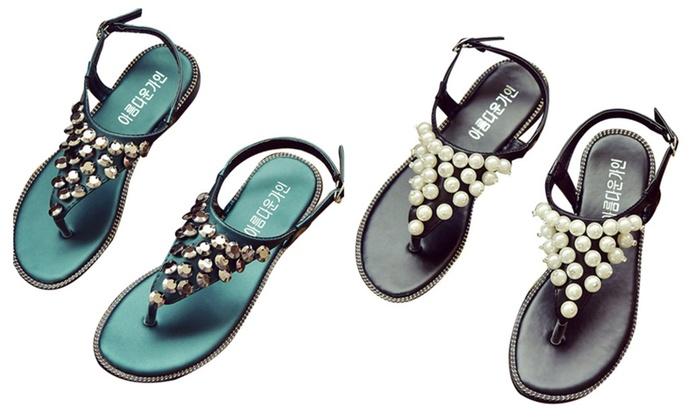 Uptown Pearl Embellished Sandal