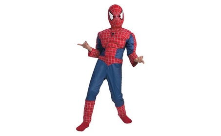 Spiderman Muscle Boys Child Halloween Costume, One Size, M (7-8) baae431e-4cfc-4a17-80e9-1034a235acfb