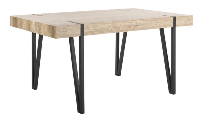 Safavieh brand new alyssa rustic midcentury wood top for Best dining table brands