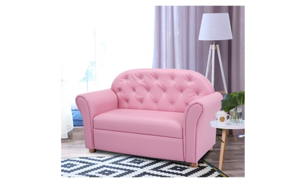 Costway Kids Sofa Princess Armrest Chair Lounge Couch Toddler