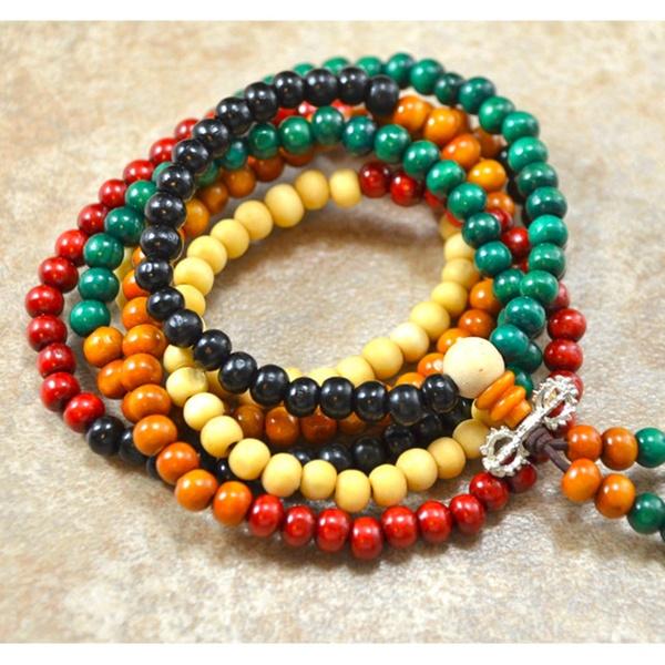 216 Sandalwood Beads Healing Mala Bracelet
