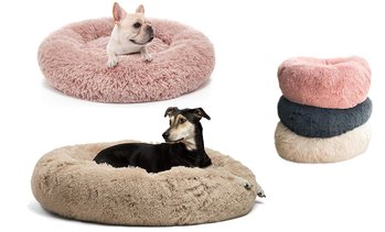 Dog Bed Cat Pet Nest Bed Warm Round Donut Cuddler Sleeping Cushion Winter Bed
