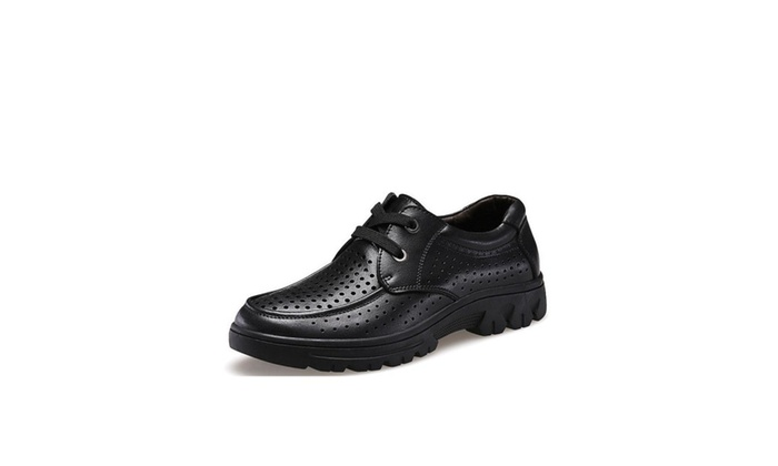 Men's Fashion Low Heel Lace Up Loafers