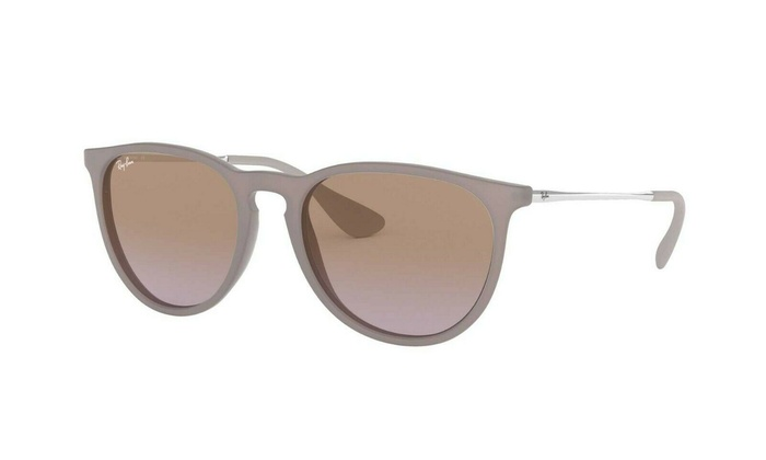 001ab1508c9a8 Ray Ban Erika Women Sunglasses RB4171 600068 54 Brown Silver   Violet  Gradient