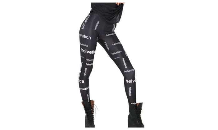 Women's Ninth Fashion Straight Mid Rise Printed Leggings - As Picture / One Size