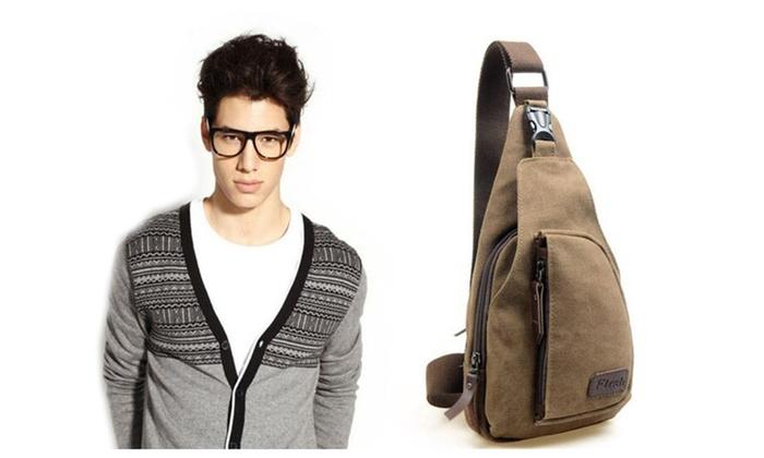 Beautywant: Men Fashion Military Zipper Shoulder Crossbody Bag For Man Casual Bag