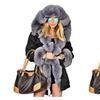 Women's Warm Winter Coat Hood Parka Overcoat Faux Fur Jacket Outwear