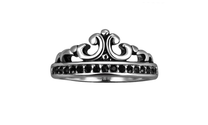the prince s crown stainless steel ring groupon