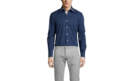 BRIO MILANO Polka Dot Buttondown