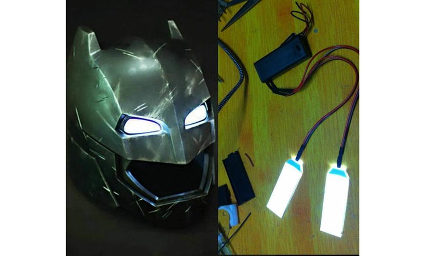 1:1 DIY GOLD LED LIGHT EYES FOR IRONMAN// BATMAN//BLACK PANTHER HELMET MASK Deco