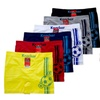 Mens Soccer Ball Seamless Boxer Brief 6 Piece Color Variety Set