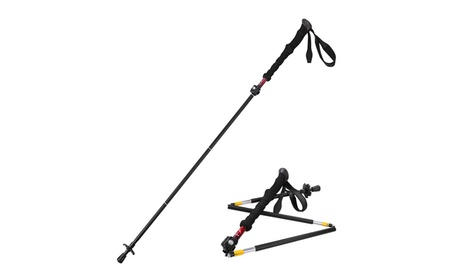 Himal 1 PCs Folding Collapsible Travel Hiking Walking Stick 432e5e12-523d-497a-a3b4-d0fa80f5fbeb