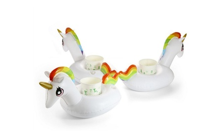 3 Inflatable Floating Unicorn Cup Holders 8476e0cd-143c-474f-b8c9-a5eff2bb29f9