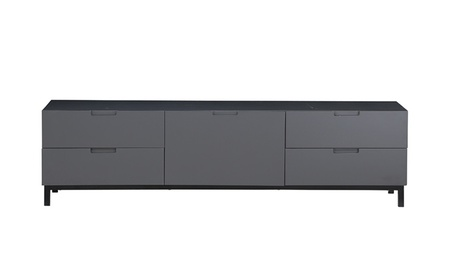 High Living Modern Storage Side table MDF Light Grey Gloss Laquer 941eb340-418e-4e11-9ec0-89384521559f