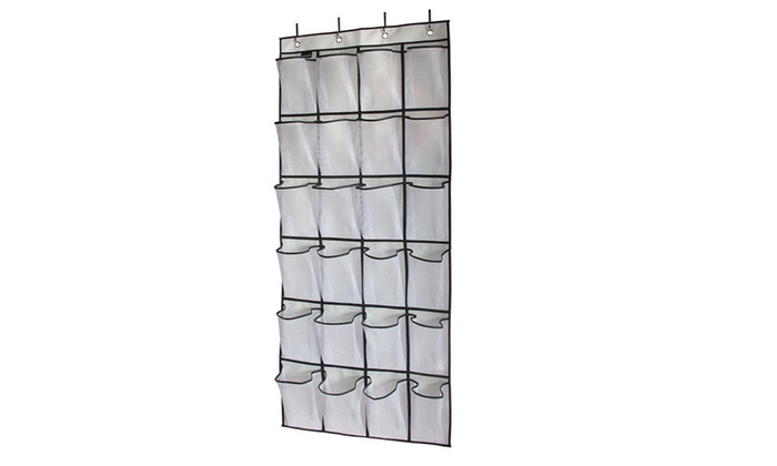 a57e628ef24 Misslo Over The Door Shoe Organizer 24 Large Mesh Pockets