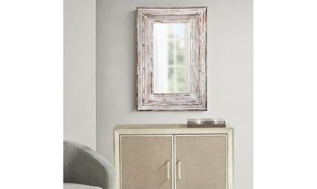 Decorative Mirror Antique White for Bathroom