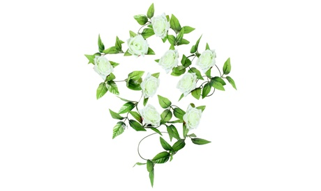 1x 8 Ft Artificial Silk Rose Flower Ivy Vine Leaf Garland Wedding Party Garlands