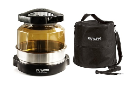 """Nuwave Pro Plus Oven w/ 3"""" Extender Ring & Oven Carry Case with Straps 8c9aeaa2-a660-4837-8a49-35a0e9b67ebe"""