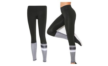 Ladies stitching design slim sexy high waist yoga Pants b033413f-a8f3-41ce-b119-7fd1ca195913