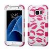 Insten Kisses Hard Hybrid Case For Samsung Galaxy S7 Hot Pink/white