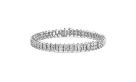 0.63 Cttw Diamond Miracle Plate Bracelet in Sterling Silver 81d21c8d-f690-43ec-8b0a-c5a542407c1f
