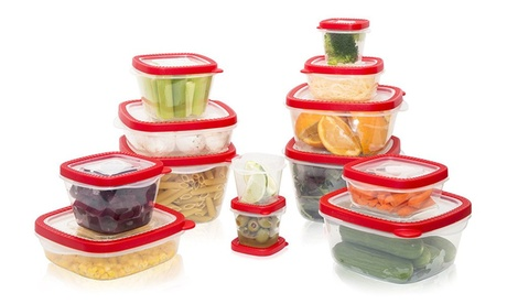 Food & Freezer Storage Container Set, 26pc, Snap Tight Lid & Vent Cap, 55247eb1-584b-4b1e-af41-af3a8d13c4f1