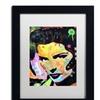 Dean Russo 'Katherine Hepburn' Matted Black Framed Art