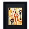 Amy Vangsgard 'Circle Encounters 2' Matted Black Framed Art