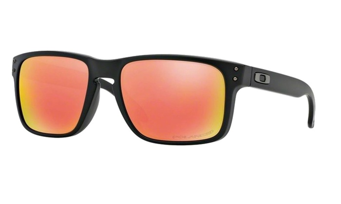 e1796661e20 Oakley Holbrook Matte Black W-Ruby Iridium Polarized 910251