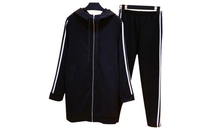 Women's Simple Pullover  Drawstring Closure Casual Tracksuits