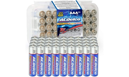 ACDelco AA or AAA Alkaline Battery Set (36-Piece)