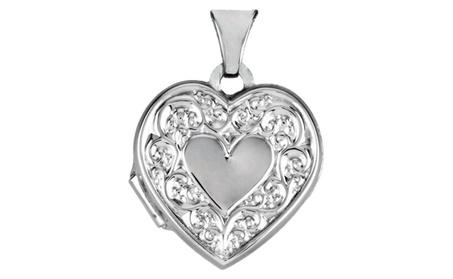 Sterling Silver Heart Shaped Locket e894de7b-732b-41fe-8cec-9796ab7586c3