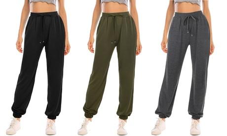 Women's Lounge Pants Activewear Drawstring Jogger Pants with Pockets
