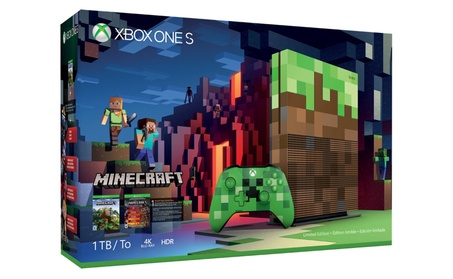 Xbox One S 1TB Limited Edition Console - Minecraft Bundle d058c131-d336-4759-a736-892c6289ca38