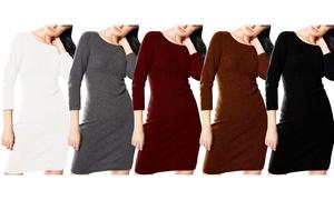 Luxurious Warm & Soft Cashmere Wool Bodycon Sweater Dress