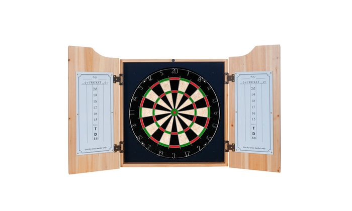 guinness dart cabinet set with darts and board toucan groupon. Black Bedroom Furniture Sets. Home Design Ideas