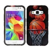 Insten Basketball Coated Silicone Case For Galaxy Core Prime Brown