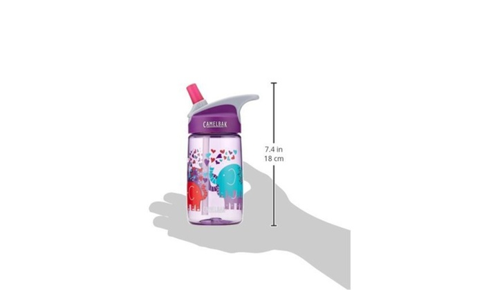 Camelbak Kids Eddy Water Bottle 0.4 L Elephant Love Durable New