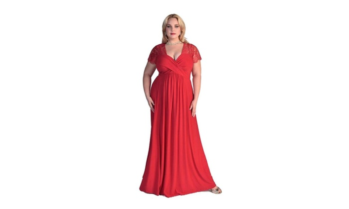 Jonar: Women's Plus Size Evening Party Maxi Dress