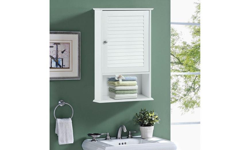 Wall Cabinet Hanging Bathroom Storage Cabinet 27 5 Height Adjustable Shelf Groupon