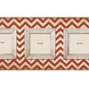 Chic Red Chevron 3 Slot Wood Picture Frames