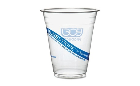 Eco EPCR12PK Recycled Content Clear Plastic Cold Drink Cups 14 oz. 644d2812-584c-451f-b477-5c9485034857