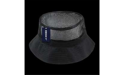 Shop Groupon Decky 458-PL-BLK-07 Mesh Bucket Hats Black - Large   Extra e3fc91c133e2