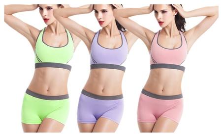 Women's Modern Sports Bra and Panties Set Yoga Wear Set 71ac24bb-c26f-459e-b072-1e55d2b5ce03