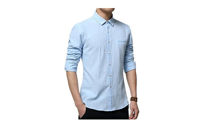 2016 new arrival cotton linen blends shirts light weight casual shirts