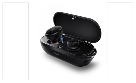 allimity Smart Touch True Wireless Earbuds with Portable Charging Case