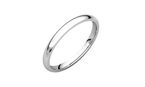 Solid Sterling Silver 2MM Comfort Fit Italian Wedding Bands
