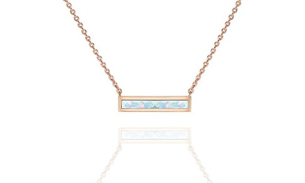Oceanic Opal Bar Necklace in 14K Gold - Two Options Was: $30.99 Now: $10.99.