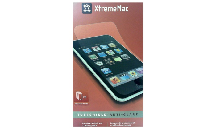 XtremeMac Tuffshield Anti-Glare Screen Protector for Apple iPod Touch 3G//2G,